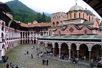 Rilsky Monastery. One of the most beautiful and famous monasteries of Balkans region.