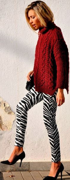 A fabulous and cozy look that's totally double take worthy.