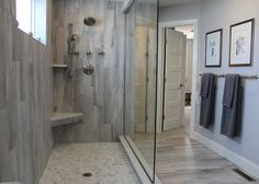 Nice vertical tile in shower: Best Tile Inspiration Roomscene Gallery - Falling Water
