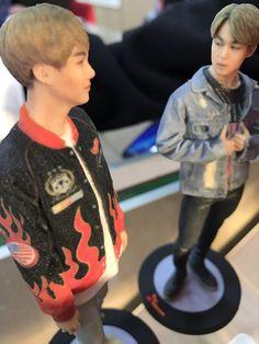 bts figurine bts skt company jimin and yoongi ahahha