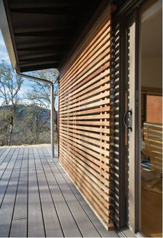via michelle kaufmann House Shutters, Window Shutters, Architecture Details, Interior Architecture, Timber Screens, Exterior Cladding, Facade House, Outdoor Living, House Plans