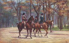 Riding the Bois de Boulogne  Vintage 1900s