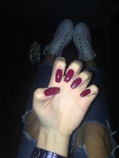 Red passion! Nails bordeaux burgundy burgandy !