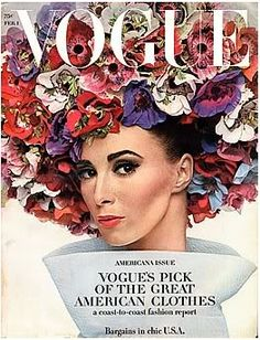 Wilhelmina Cooper, American Vogue February 1st,1964. Credit:PaperPursuits.