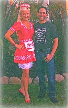 """""""Jack & Coke"""" Halloween Costume :)"""