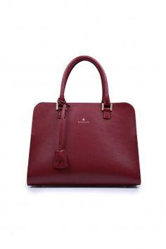 Torebka Charlotte Satchel Bag burgundowa
