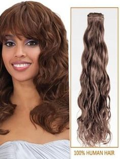 #6+Light+Brown+Curly+Indian+Remy+Hair+Wefts