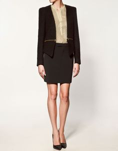 Zara jacket with zip