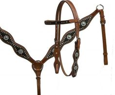 🐎 Showman ® double stitched leather headstall and breast collar set  (pre order)