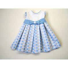 Ropita para bebés » Vestidos azul con blanco de niña 5