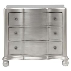 Jules Platinum Chest from Z Gallerie - Our Jules Platinum Chest is a Z Gallerie exclusive. Jules features a graceful curved case front and a platinum finish that's reminiscent of the glamorous 30's Hollywood era. Wide drawer design allows for ample storage.