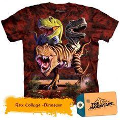 T-Rex Shirt Tie Dye Rex Dinosaurs Collage T-shirt Adult Tee Dinosaur Shirts Available in Medium, Large, XL, & Officially Licensed View our Dinosaur Shirt, Dinosaur Funny, Dinosaur Gifts, Urban Chic, Brave Animals, T Rex Shirt, Oeko Tex 100, Tee Shirts, Dinosaurs
