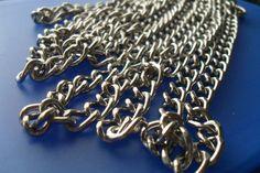 catena argentata per borse 1mt, by Mila Bijoux, 4,50 € su misshobby.com