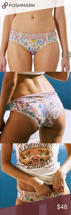 Spell Lovebird Bloomers Bikini XL Beautiful printed brief in our classic 'bloomer' cut, perfect under slightly sheer outfits and easily double as bikinis. Our signature mix and match intimates have become collectible cult faves amongst our customers! Spell & The Gypsy Collective Intimates & Sleepwear Panties