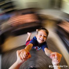 Fun idea with your GoPro camera! Set on Photo Burst mode and start spinning!