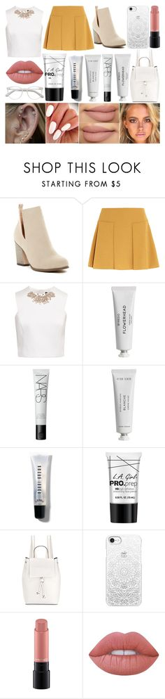 """""""School Day"""" by susanna-trad ❤ liked on Polyvore featuring Chase & Chloe, See by Chloé, Ted Baker, Byredo, NARS Cosmetics, Bobbi Brown Cosmetics, Charlotte Russe, French Connection, Casetify and MAC Cosmetics"""