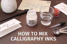 How To Mix Calligraphy Inks   JetPens