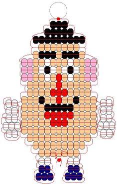 Mr. Potato Head 2 Pony Bead Projects, Pony Bead Crafts, Beaded Crafts, Beading Projects, Pony Bead Patterns, Craft Patterns, Beading Patterns, Bracelet Patterns, Stitch Patterns