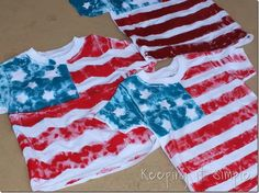of July Shirt Idea: Flag Shirt. Perfect shirt to let your kids paint themselves! Patriotic Crafts, July Crafts, Summer Crafts, Holiday Crafts, Holiday Fun, Holiday Ideas, Summer Fun, Projects For Kids, Diy For Kids