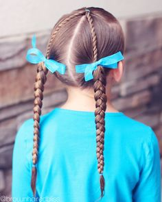 Mini Rope Twists to Braided Pigtails