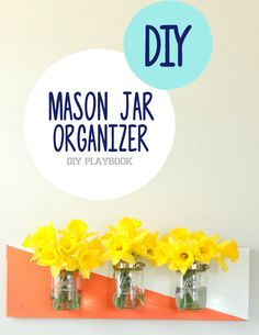 Come follow our tutorial and learn how to create a mason jar organizer for some unique bathroom storage.