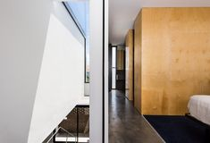 Robeson Architects Designs the Triangle House on a Wedge of Land in Perth - Design Milk Grand Designs Australia, Triangle House, Open Showers, Custom Shelving, Steel Stairs, Timber Deck, Small Hallways, Interior Design Studio, Design Interiors