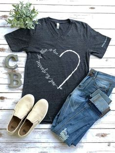 Greatest is Love T-Shirt This t-shirt is Made To Order, one by one printed so we can control the quality. Cute Tshirts, Mom Shirts, T Shirts For Women, Clothes For Women, Teen Shirts, Cute Shirt Sayings, Fall Shirts, T Shirts With Sayings, Jesus Shirts