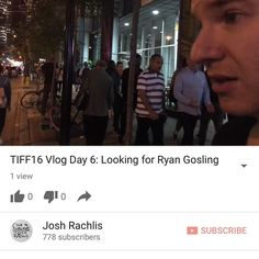 Day 6 of my daily vlog from TIFF 2016 is now on http://youtube.com/joshrachlis. If you thought Day 5 ended badly wait until you see how awful this day was. I ordered the cheapest @Subway sub possible - then didn't even get it got rejected from a walk-on r