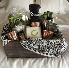 Renowned Souvenir Basket for any Occasion. gift baskets for men Creative Gift Baskets, Gift Baskets For Men, Themed Gift Baskets, Raffle Baskets, Basket Gift, Liquor Gift Baskets, Creative Gifts, Boyfriend Gift Basket, Diy Gifts For Boyfriend