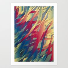 Modern Aquatic Nightsongs Art Print by Angelo Cerantola