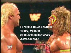 Hulk Hogan v. The Ultimate Warrior The Ultimate Warrior, Ultimate Warrior Quotes, Wwe Quotes, Best Wrestlers, Hulk Hogan, Wrestling Wwe, Professional Wrestling, Wwe Superstars, The Good Old Days