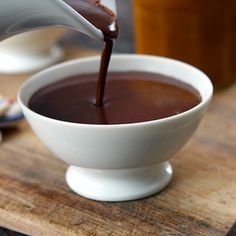 Chilly where you live? Brew a cup of Parisian hot chocolate to warm up. Recipe from David Leboviz, found at www.edamam.com