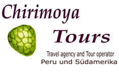 Logo Chirimoya Tours Reiseveranstalter für Südamerika und Peru, mit Büro in Lima Miraflores.    South America and Peru  Tours individual    Pleas contact us:      info@chirimoyatours.com.    We speak, german, englisch and spanisch.  our Hompage     www.chirimoyatours.com