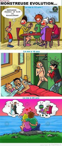 Voici comment l'homme évolue au fil du temps... Ahahaha Adult Cartoons, Adult Humor, Funny Cartoons, Funny Comics, When Im Bored, Funny Art, Fnaf, Cartoon Characters, Memes