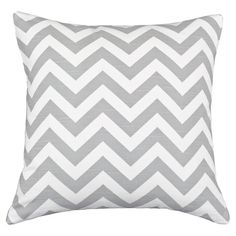 Chevron cotton pillow.   Product: PillowConstruction Material: 100% Cotton cover and 100% hypo-allergenic polyest...
