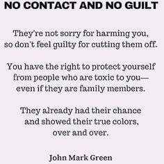 """""""No contact & no guilt. Narcissistic Sister, Narcissistic People, Narcissistic Behavior, Narcissistic Abuse Recovery, Wisdom Quotes, Quotes To Live By, Life Quotes, In Laws Quotes, Sassy Quotes"""