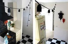 kitchen light chain diy - works (always) in progress | I diari dell'appartamento