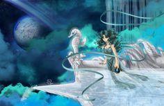 i am liking this today. Princess Neptune by Kanochka on DeviantArt Sailor Moon Drops, Sailor Moon Stars, Sailor Moon Fan Art, Sailor Chibi Moon, Sailor Neptune, Sailor Uranus, Sailor Moon Crystal, Stars And Moon, Sailor Moon Wallpaper