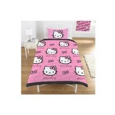 Hello Kitty Polka Dot Twin Bed Duvet and Pillowcase Set  Order at http://amzn.com/dp/B003WMZ5J4/?tag=trendjogja-20