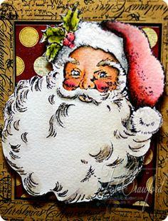 stampendous jolly santa - Google Search