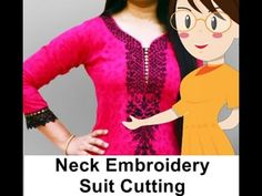 Neck Embroidery Suit Cutting - Tailoring With Usha - YouTube