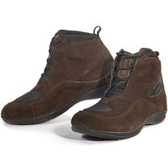 Motorcycle Leather Boots (Spyke Urban Travel) Motorcycle Leather, Motorcycle Boots, Leather Boots, Black Leather, Stylish Boots, Cool Motorcycles, Brown Suede, Lace Up, Tech