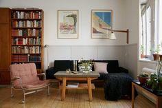 Långholmsgatan 13 A, 2 tr ög Home Interior, Home Living Room, Interior Design Living Room, Interior Architecture, Living Spaces, Room Inspiration, Home Fashion, Room Decor, House Design