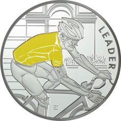 10 Euro Silber Tour de France: Gelbes Trikot PP