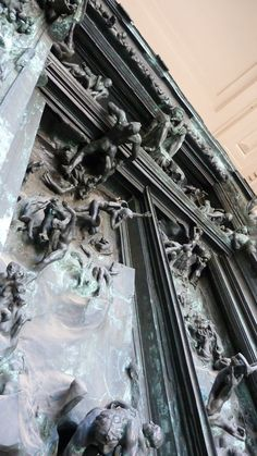 """The gates of Hell"" at the Rodin Museum in Philly"