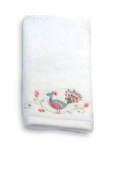 Dena Home   Peacock Jacquard Fingertip Towel