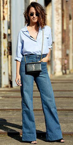 Calça flare de cintura alta é uma das promessas para o verão e Gloria Kalil dá o guia para aderir no dia a dia   Chic - Gloria Kalil: Moda, Beleza, Cultura e Comportamento