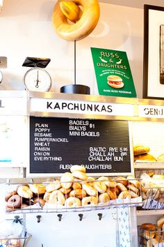russ and daughters bagels, lower east side.