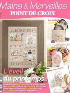 Журналы по вязанию и рукоделию.: Mains & Merveilles Point de Croix №119 2017