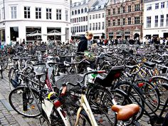 Bikes are a massive presence in Copenhagen, as well as in al other parts of Denmark.